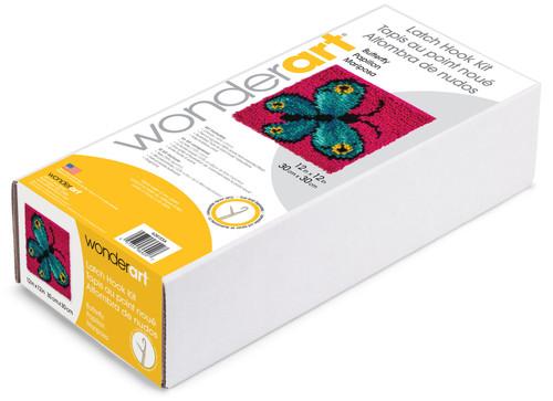 """Wonderart Latch Hook Kit 12""""X12""""-Butterfly -426133C"""