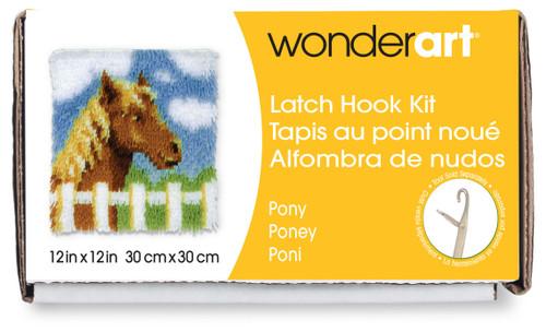 "Wonderart Latch Hook Kit 12""X12""-Pony -426134C - 057355369214"