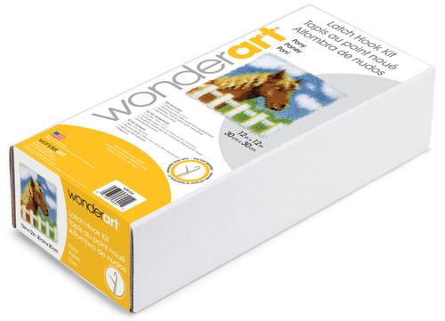 "Wonderart Latch Hook Kit 12""X12""-Pony -426134C"