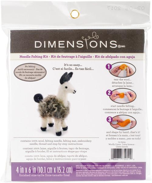 Dimensions Felt Decor Applique Kit-3-D Llama -72-75051 - 088677750510