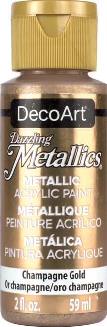DecoArt Dazzling Metallics Acrylic Paint 2oz-Champagne Gold -DM-DA202 - 766218000200