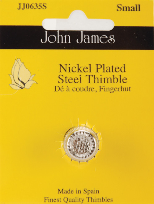 John James Nickel Plated Steel Crimp Top Thimble-Small Size 5 -JJ0635-S - 783932300249