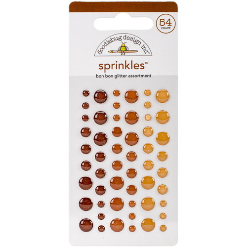 Doodlebug Sprinkles Adhesive Glitter Enamel Dots 54/Pkg-Bon Bon -MONOSG-4543 - 842715045439