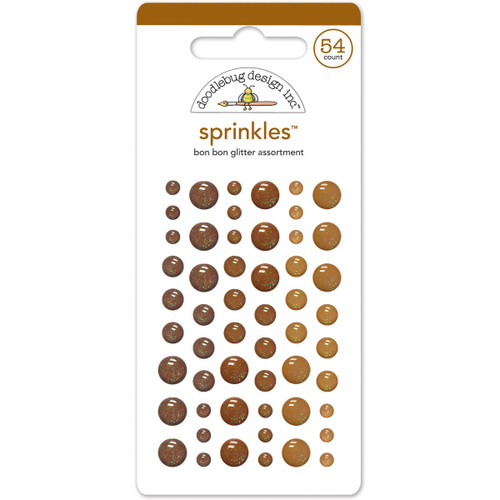 Doodlebug Sprinkles Adhesive Glitter Enamel Dots 54/Pkg-Bon Bon -MONOSG-4543