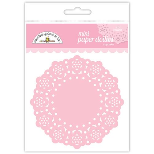"Doodlebug Mini Doilies 3"" 75/Pkg-Cupcake -DDM-4596"