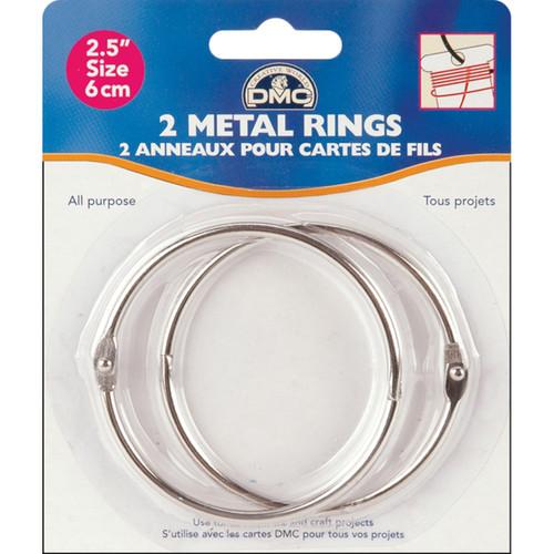 """DMC Metal Rings 2.5""""-2/Pkg -6110 - 077540387779"""
