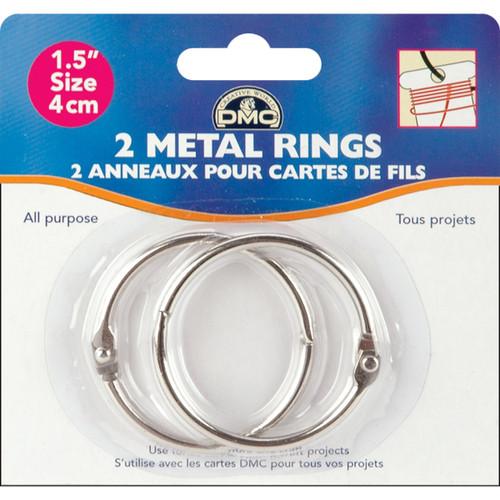 """DMC Metal Rings 1.5""""-2/Pkg -6109 - 077540387762"""