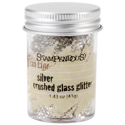Stampendous Frantage Crushed Glass Glitter 1.41oz-Silver -FRG01C - 744019190092