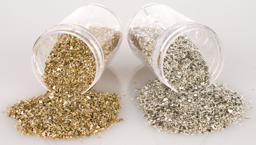 Stampendous Frantage Crushed Glass Glitter 1.41oz-Silver -FRG01C