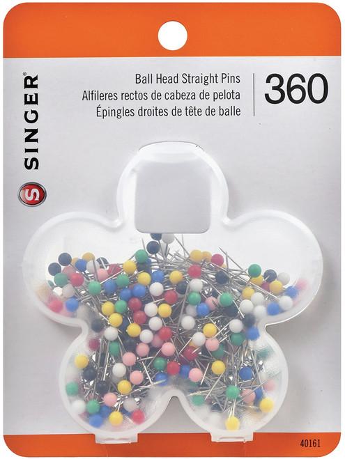 Singer Ball Head Quilting Pins In Flower Case-Size 17 360/Pkg -40161 - 075691401610