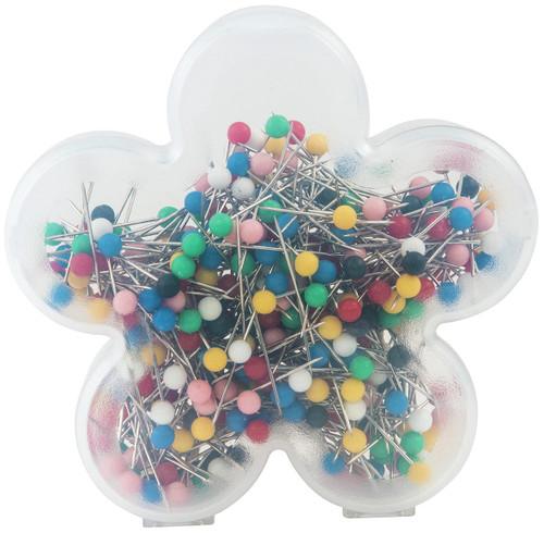Singer Ball Head Quilting Pins In Flower Case-Size 17 360/Pkg -40161