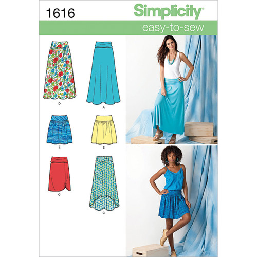 Simplicity Misses Knit & Woven Skirt-14-16-18-20-22 -US1616R5 - 039363616160
