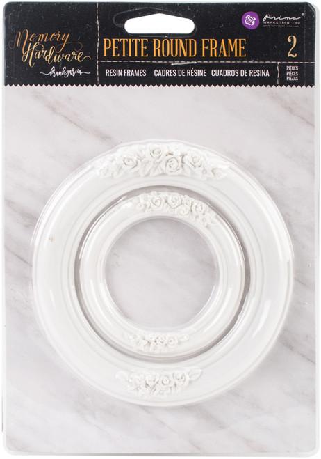 Prima Marketing Memory Hardware Resin Frames 2/Pkg-Petite Round -993658 - 655350993658