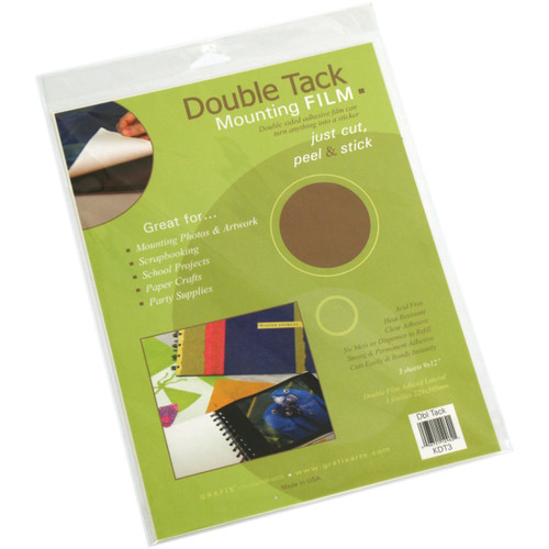 """Double Tack Mounting Film-9""""X12"""" 3/Pkg -KDT3"""
