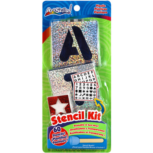 Reusable Letters, Numbers & Shapes Stencil Kit-PA1209 - 672125012093