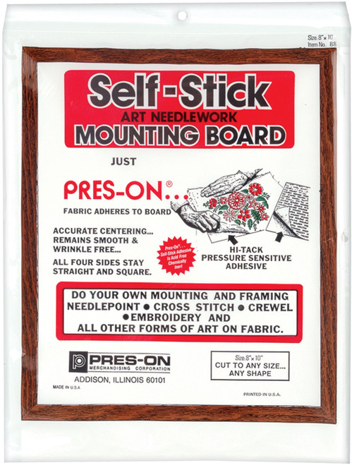 """Pres-On Mounting Board 8""""X10""""-B08MC - 024904006609"""