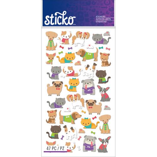 Sticko Stickers-Tiny Cats & Dogs -E5201275 - 015586820225