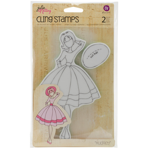 Prima Marketing Julie Nutting Mixed Media Cling Rubber Stamp-Audrey -11119 - 655350911119