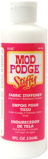 Mod Podge Stiffy Fabric Stiffener-8oz -1550 - 028995015502