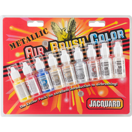Jacquard Metallic Airbrush Color Pack .5oz 9/Pkg-JAC9936 - 743772993605