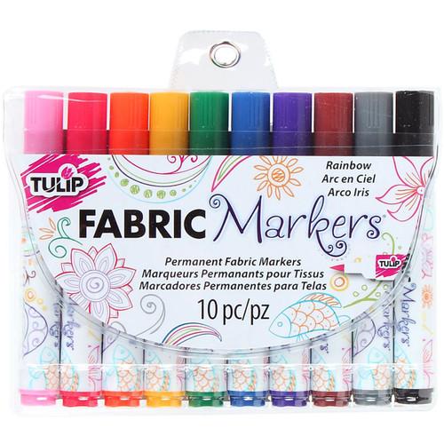 Tulip Fabric Markers 10/Pkg-Rainbow -3164-8 - 017754316486