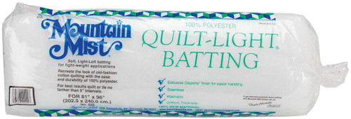 "Mountain Mist Quilt-Light Polyester Batting-Full Size 81""X96"" -222MM - 027206222227"