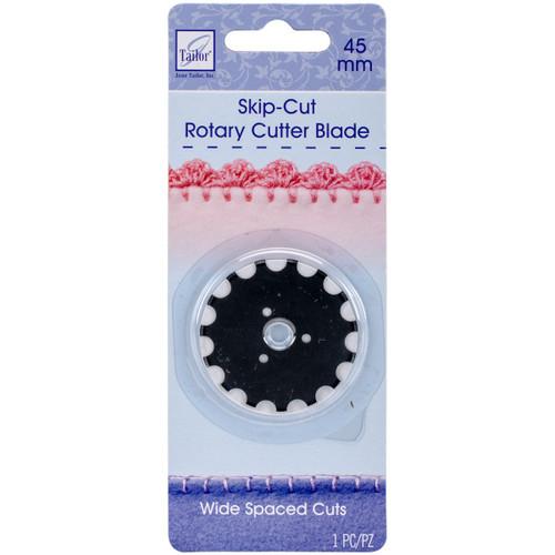 June Tailor Rotary Cutter Blade Refill 45mm 1/Pkg-Wide Skip Cut -JT1192 - 730976011921