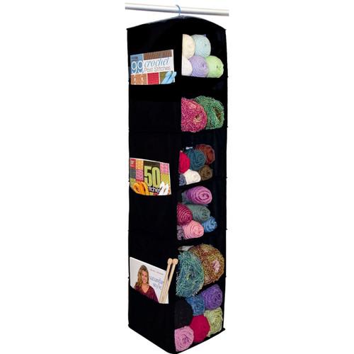 "Innovative Home Creations 6 Shelf Yarn & Craft Organizer -Black 48""X11""X11"" -4850-BLACK"