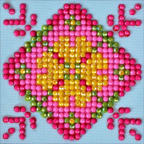 "Diamond Dotz Square Diamond Art Kit 3""X3""-Patchwork Mandala 1 -DDS027"