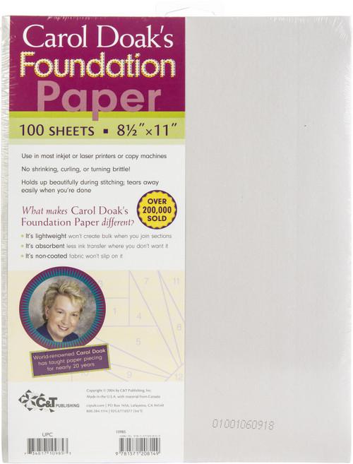 "Carol Doak's Foundation Paper 100/Pkg-8.5""X11"" -10985 - 7348171098539781571208149"
