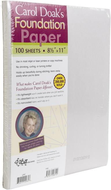 "Carol Doak's Foundation Paper 100/Pkg-8.5""X11"" -10985"