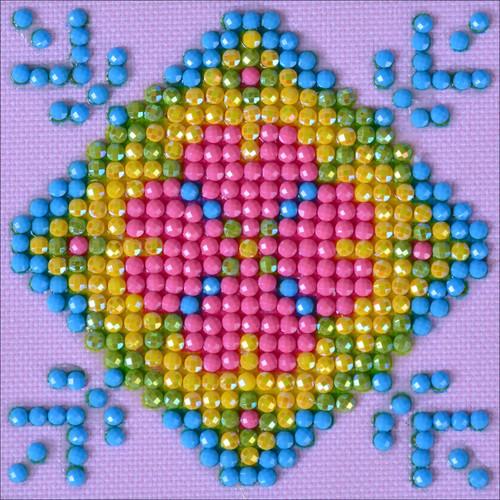 "Diamond Dotz Square Diamond Art Kit 3""X3""-Patchwork Mandala 2 -DDS028"