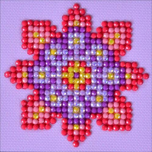 "Diamond Dotz Square Diamond Art Kit 3""X3""-Flower Mandala 2 -DDS030"