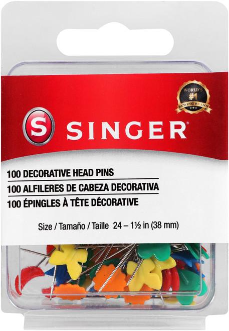 Singer Decorative Straight Pins-Size 24 100/Pkg -00359 - 075691003593