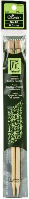 "Takumi Bamboo Single Point Knitting Needles 9""-Size 10/6mm -3011-10 - 051221204104"