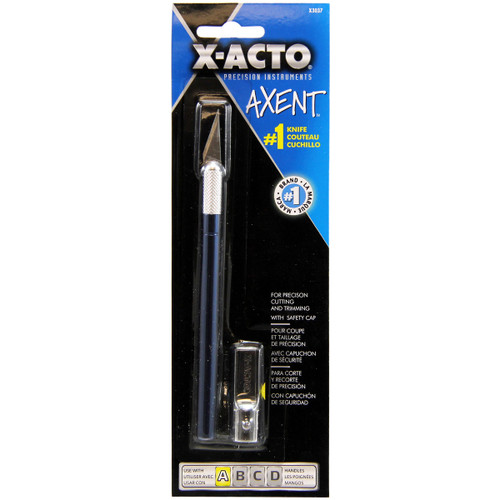 X-ACTO(R) AXENT #1 Craft Knife W/Cap-Blue -X3037 - 079946030372