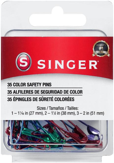 Singer Safety Pins-Sizes 1 To 3 35/Pkg -294 - 075691002947