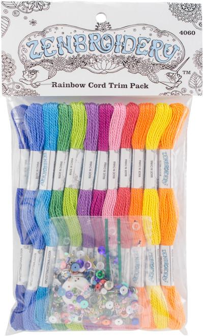 Design Works/Zenbroidery Stitching Trim Pack 12/Pkg-Rainbow -DW4060 - 021465040608