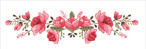 """Tobin Stamped For Embroidery Pillowcase Pair 20""""X30""""-Pink Floral -T232185"""