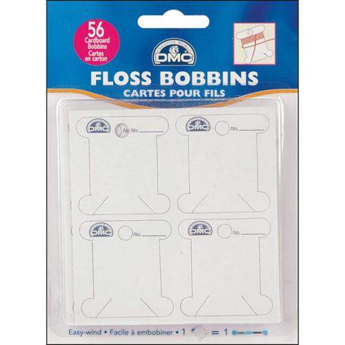 DMC Cardboard Floss Bobbins-56/Pkg -6101 - 077540386130