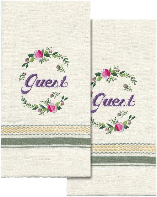 """Tobin Stamped For Embroidery Kitchen Towels 18""""X28"""" 2/Pkg-Guest -T212958"""