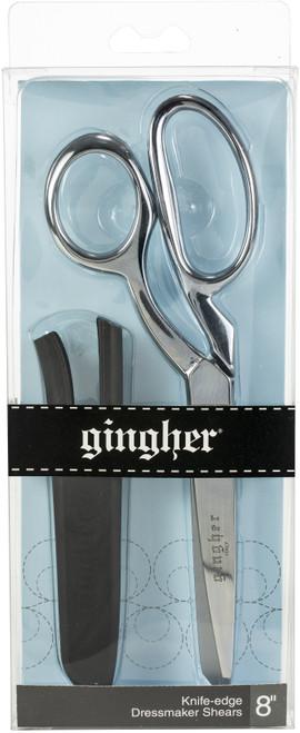 """Gingher Knife Edge Dressmaker Shears 8""""-W/Molded Nylon Sheath -01005288 - 743921811118"""