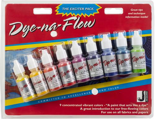 Jacquard Dye-Na-Flow Exciter Pack .5oz 9/Pkg-JAC9908 - 743772990802