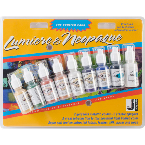 Jacquard Lumiere/Neopaque Pack .5oz 9/Pkg-JAC9900 - 743772990000