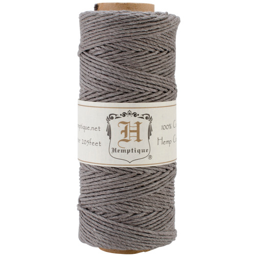 Hemptique Hemp Cord Spool 20lb 205'-Gray -HS20-GRY - 091037333308