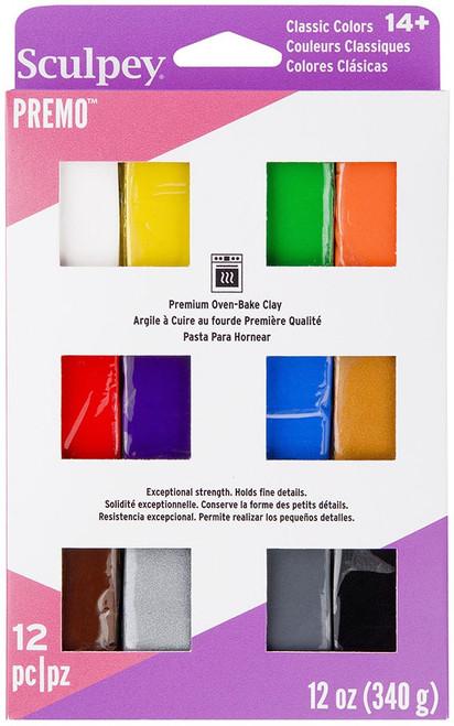 Premo Sculpey Polymer Clay Multipack 1oz 12/Pkg-Classic -PEVM-C-12 - 715891619339