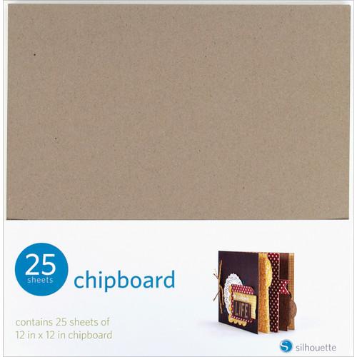 """Silhouette Chipboard 12""""X12"""" 25/Pkg-SILCHIP - 814792012512"""