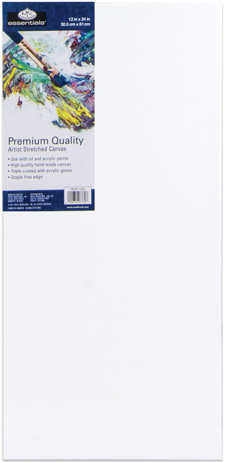 """essentials(TM) Premium Stretched Canvas-12""""X24"""" -CNV1224 - 090672077608"""