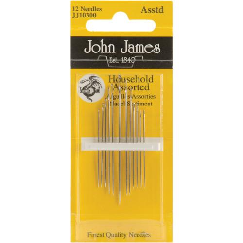 John James Household Hand Needles-Assorted 12/Pkg -JJ103-00 - 783932200969