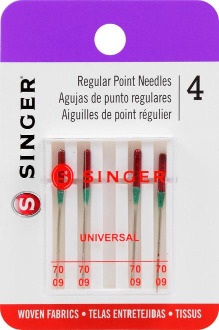 Singer Universal Regular Point Machine Needles-Size 9/70 4/Pkg -4877 - 075691048778